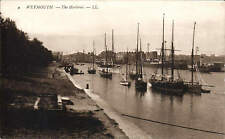 Weymouth. The Harbour # 4 by LL / Levy. Sepia.