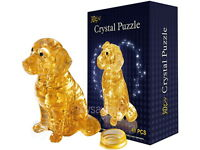 3D Crystal Puzzle with 41pcs Dog Golden Retriever Yellow