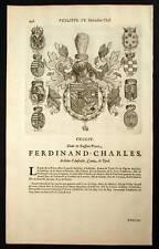FERDINAND CHARLES ARCHIDUC D AUTRICHE COMTE DE TYROL