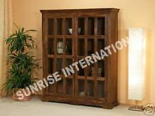 Wooden book shelf / display case / Bookcase ( Medium size Glass cabinet )