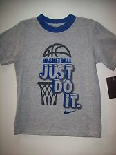Nike T-Shirt Tee Sports Basketball Just Do It. Swoosh Size 3Toddler Grey New