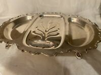 Vintage Gorgeous Silver Plate 3-Part Meat Platter Tray