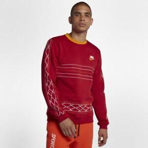 Nike Sportswear Club Crew Nomad Sweatshirt Men's XL-  Red/ BV3080 687