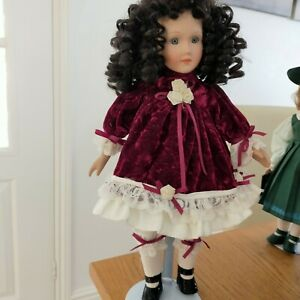 Collectors Porcelain Doll On Stand
