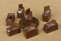 1:12th 7 Loose Chocolate Delights Dolls House Miniature Cake Accessories PL50