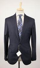 New BRUNELLO CUCINELLI Oxford Blue Plaid Wool 3/2 Button Suit Size 52/42 R $4590