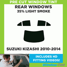 Pre Cut Window Tint - Suzuki Kizashi 2010-2014 - 35% Light Rear