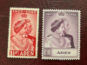 Aden SC #30-31 NH Set 1948 Silver Wedding