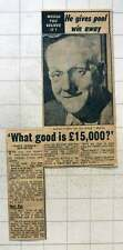1954 George Murns Tartan Street Clayton Manchester Gives Away £15,000 Pools Win