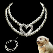 5pcs/lot Luxury Pearl Dog Necklace Collars Cute for Small Medium Dog Pet Poodles