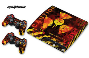 Skin Decal Wrap For PS3 Slim PlayStation 3  Console + Controller Meltdown