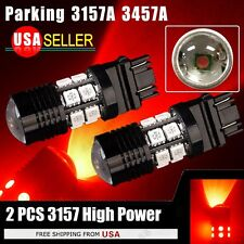 2PCS NEW Super Red 3157 7W + 12 SMD LED Bulb Parking Reverse Tail Stop Light