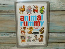 Rare Vintage 1963 Whitman ANIMAL RUMMY Card GAME Sealed Plastic Case