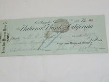 RARE Randsburg Check Yellow Aster Mining Printed in Black Printed in 1890 #72