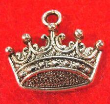 10Pcs. Tibetan Silver King Queen CROWN Charms Pendant Tibet Jewelry Finding PR73