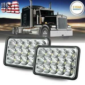 "4x6"" inch 15 LED Headlights CREE HID Replace H4656/4651 High/Low Beam 90W- Pair"