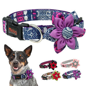 Fancy Dog Collar with Blossom Flower Fashion Puppy Necklace Collar Adjustable