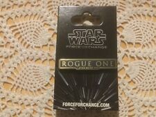 Star Wars ROGUE ONE FORCE FOR CHANGE Pin.  New on Card.