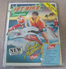 "Vintage Spectrum 48k 1980s Cassette Video Game 4"" X 5.5"" Jet Bike Sim Code Maste"