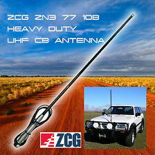 ZCG 6.6dBi UHF CB ANTENNA HEAVY DUTY REMOVEABLE ZN3-77-10B + BLACK + NEW