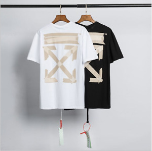 OFF WHITE OW Graffiti arrow print casual Short Sleeve tee Top Unisex T-Shirt