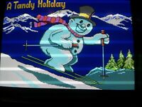 "Radio Shack - Christmas Store Demo Disk ""A Tandy Holiday"" 1986 for Tandy 1000"
