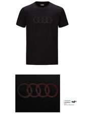 Original Audi T-Shirt, Audi Tshirt, Herren Shirt Audi Ringe in schwarz