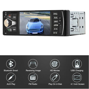 4.1in 1DIN HD Screen Car MP4 MP5 Player Bluetooth Audio Stereo FM Radio USB TF