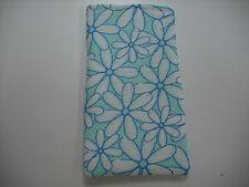 Sunglass / Eyeglass Soft Fabric Case - Daisy Flowers on Green Background - NEW!
