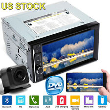 "6.2"" HD Touch Screen Double 2 DIN Car Stereo DVD CD Player Radio Mirror For GPS"