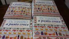 Enciclopedia Facilissimo a Punto Croce 4 raccoglitori completi