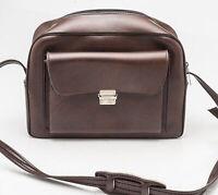 Kameratasche Fototasche Schultertasche camera bag in Braun brown universal