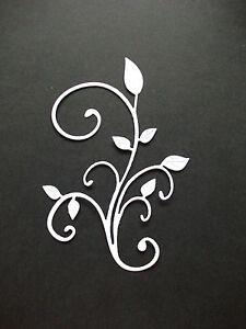 10 x Cheery Lynn Fanciful Flourish Die Cuts. White.