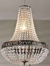 Chandelier Empire Shape Swag Victorian Style Jewel Bronze Effect