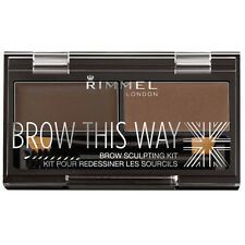 Rimmel Brow This Way brow sculpting kit- Dark Brown with wax and powder.