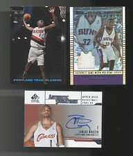 Lot Of 3 NBA Cards-Carlos Boozer Rookie Auto, Stoudemire Rookie Jersey, J O'Neal
