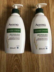 2 x Aveeno Moisturising Cream - 300 ml (2 x 300ml = 600ml) TWIN / DUO