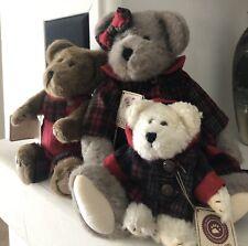 "Boyd's Bears Retired ""Juniper Bearsley"" 14"" Bear w/Plaid Dress."