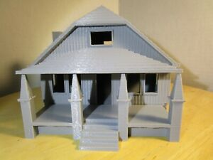 "(1) "" S ""  SCALE  ONE STORY BUNGALOW HOUSE  or  COTTAGE     3D  PRINTED  L@@K"