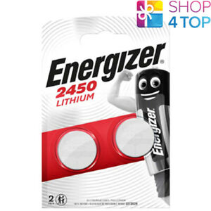 2 ENERGIZER CR2450 LITHIUM BATTERIES 3V COIN CELL DL2450 BR2450 EXP 2025 NEW