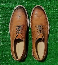 Cole Haan Briscoe Wingtip Oxford Leather Shoes British Tan Java C23837 Size 10.5