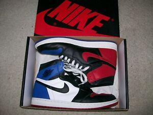 SZ 11.5 Nike Air Jordan 1 High OG Top 3 555088-026 XI IV UNC ChicagoMocha Bred