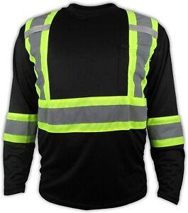 Black High Visibility Safety Shirt  Choose size
