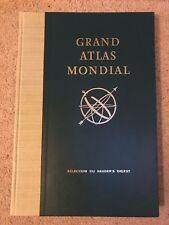 VINTAGE GRAND ATLAS MONDIAL / WORD ATLAS / READER'S DIGEST 1963 FRENCH FRANCAIS