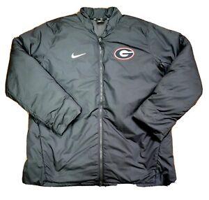 Men's Nike Georgia Bulldogs Bomber Heavy Winter Jacket Size Large AO4511-060
