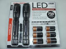 Feit Electric LED ULTRA BRIGHT 750 LUMENS FLASHLIGHT TORCH x 2 Pack New