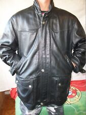 "VESTE MANTEAU CUIR VACHETTE  "" WINCH "" T- 52/54  LEATHER JACKET VINTAGE"