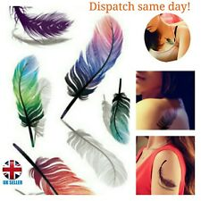 feathers  wings  3d temporary tattoo