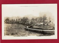 More details for unidentified riverside scene steam boats netherlands ? rp  pc  unused am239