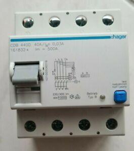 Hager CDB 440D FI-Schutzschalter Typ B 40A 0,03A 30mA